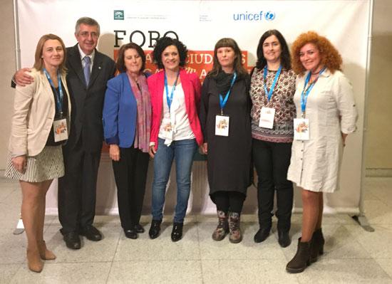 Imagen del Foro Unicef en el I Foro Andaluz Ciudades Amigas de la Infancia.
