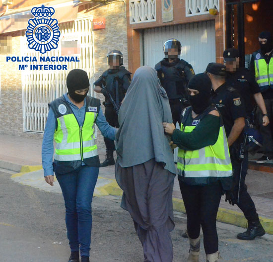 Imagen de la operación antiterrorista.
