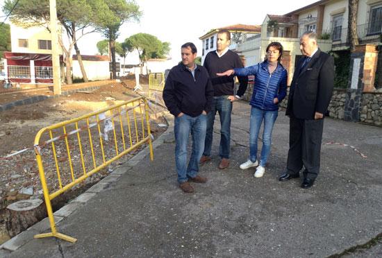 Imagen de la visita del Subdelegado a Minas de Riotinto.
