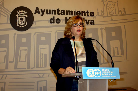 Berta Centeno en rueda de prensa.