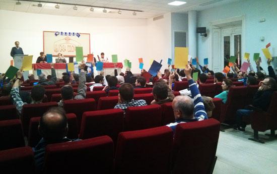 Imagen de una asamblea del Trust.