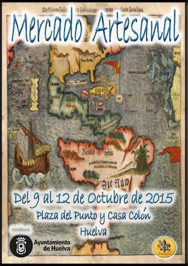 Cartel del Mercadillo Artesanal de huelva.
