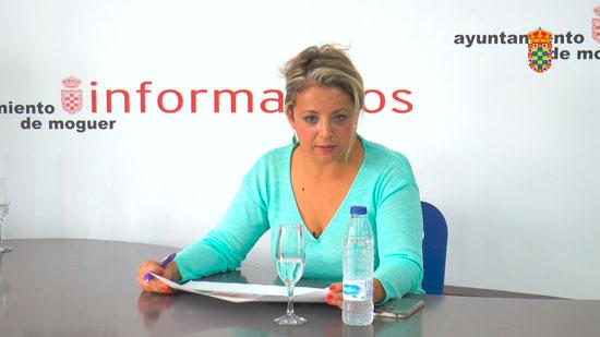 Imagen de Lourdes Garrido durante una rueda de prensa.