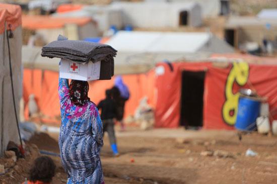 Imagen de un campamento de refugiados en Siria.