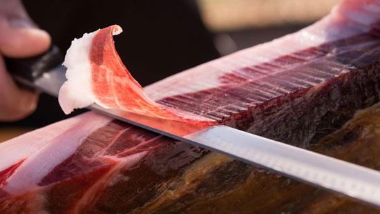 Imagen de un corte de jamón