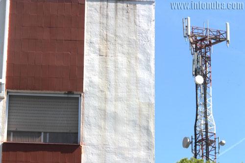 Imagen de las antenas en la barriada de Los Cantos