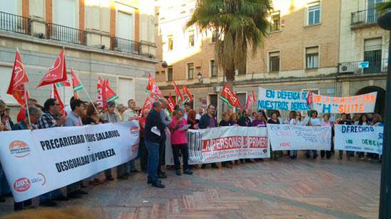 Imagen de la manifestación de esta tarde.
