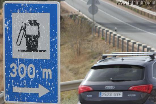 Imagen de la señal manchada.