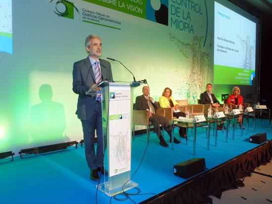Intervención de consejero de Salud en las I Jornadas Hispanoamericana-Lusas sobre la Visión.