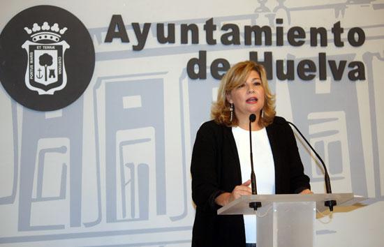 Imagen de Berta Centeno en rueda de prensa.