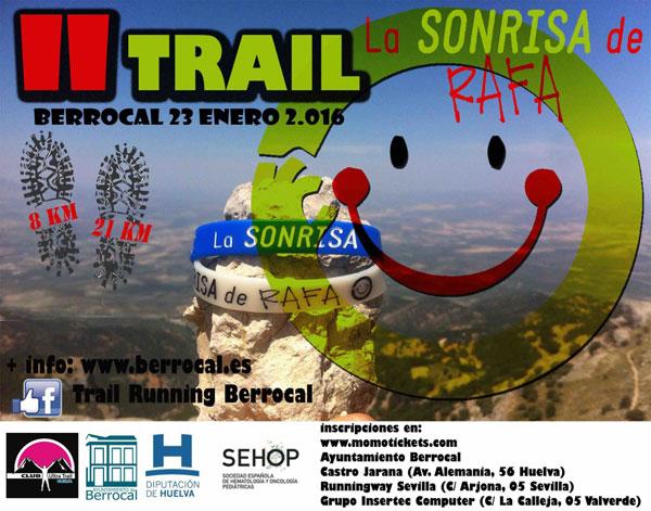 """Cartel de la II edición del Trail """"La sonrisa de Rafa""""."""