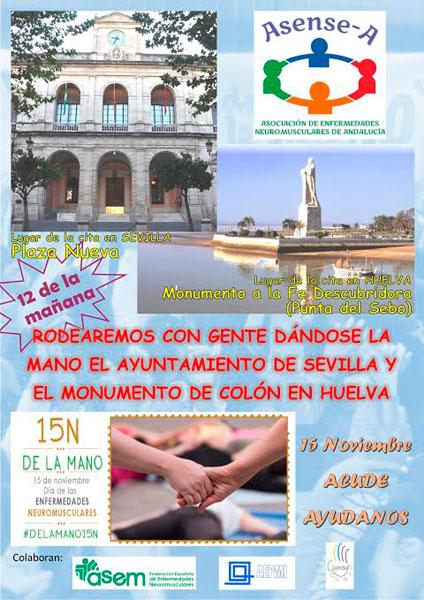 Cartel de la actividad solidaria en Colón.