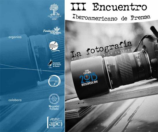 Díptico del III Encuentro iberoamericano de Periodismo.