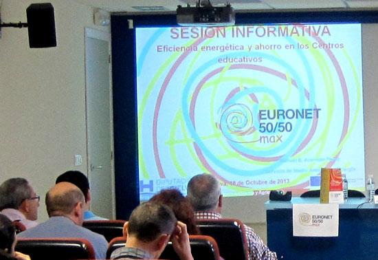 Imagen de una sesión informativa del proyecto Euronet 50/50 max.