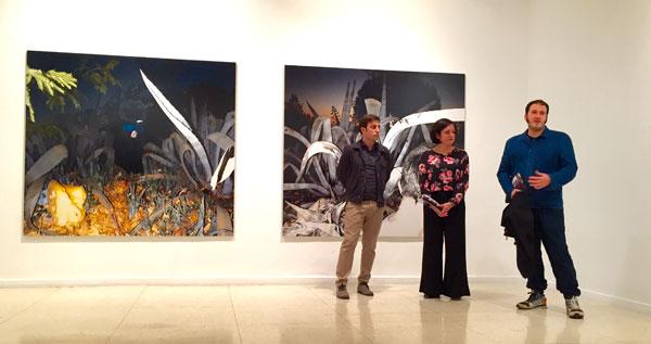 """Imagen de la inauguración de la exposición """"Pretérito Imperfecto Compuesto"""" de Miguel Ángel Tornero."""