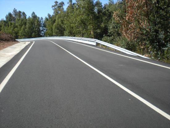 Imagen de una de una carretera en la provincia.