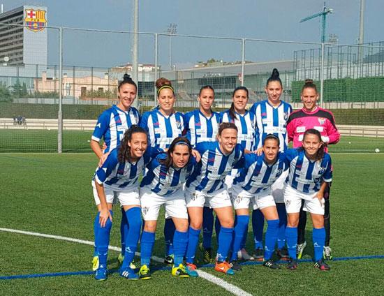 Imagen del once inicial del Sporting Club de Huelva.