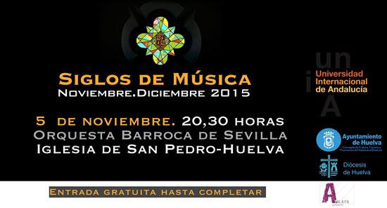 "Cartel de ""Siglos de Música""."