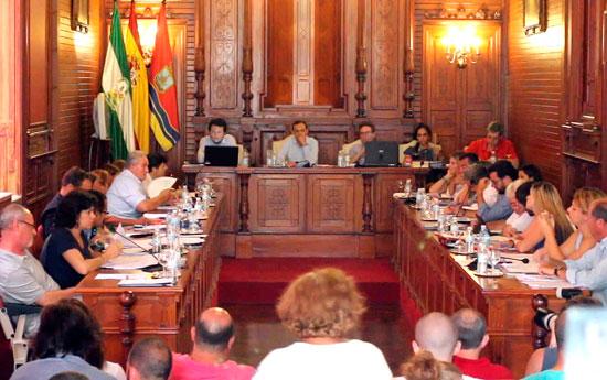 Imagen de un Pleno del Ayuntamiento de Sanlúcar de Barrameda.