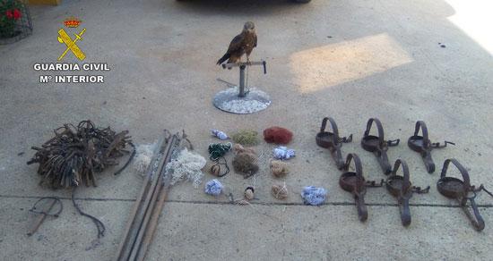 Imagen del milano y de los diferentes objetos intervenidos.
