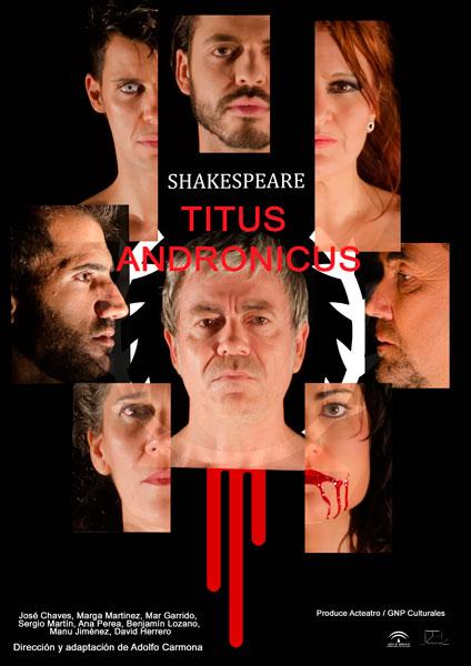 """Imagen del cartel de la obra """"Titus Andronicus""""."""