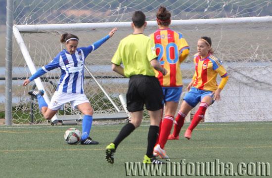 Imagen de un encuentro de esta temporada entre el Sporting Club de Huelva y el Valencia C.F.