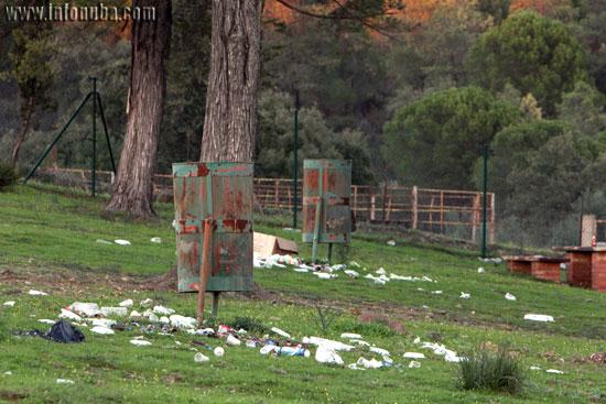 Imagen del Parque de los Cipreses de Minas de Riotinto este pasado lunes.