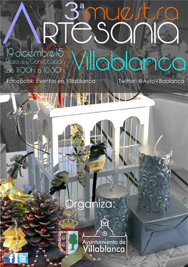 Cartel de la III edicicón de la Muestra de Artesanía de Villablanca.