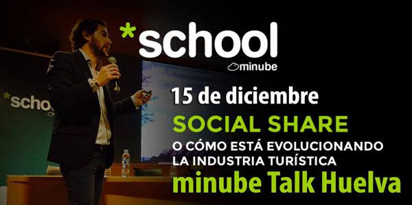 "Cartel del encuentro ""Minube Talks"""