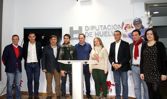 Presentación del la etapa de inicio de la Vuelta ciclista Andalucía en la Diputación de Huelva.