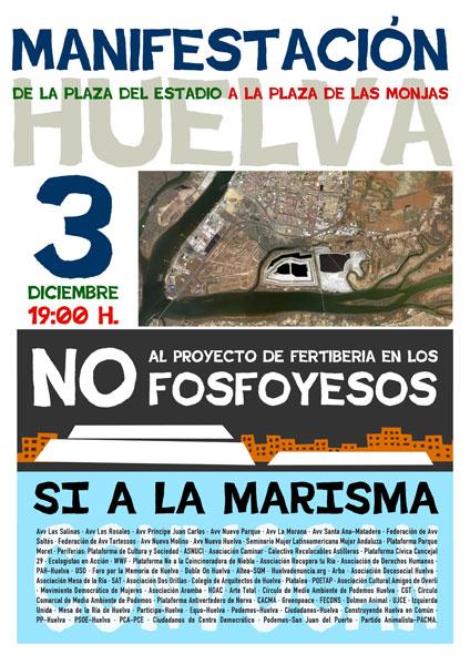 Cartel de la manifestación del próximo 3 de diciembre.