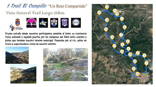 Planning del Trail Largo de 22 km.