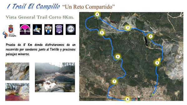 Planning del Trail Corto de 8 km.