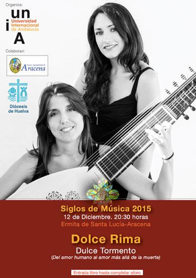 Imagen del cartel del concierto de Dolce Rima en Aracena.