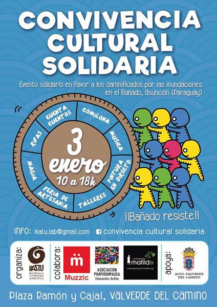 Cartel de la Convivencia Cultural Solidaria.