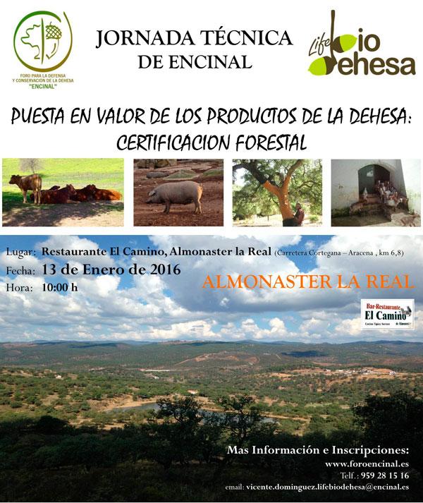 Cartel de la Jornada Técnica de Encinal.
