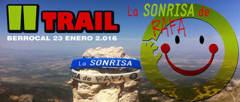 """Cartel de la 2ª edición del Trail Solidario """"La Sonrisa de Rafa""""."""