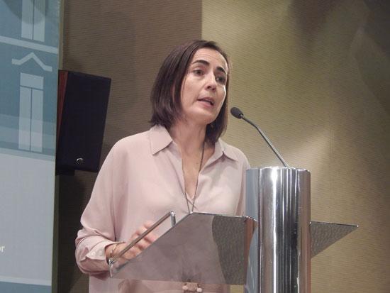 La directora general de Tráfico, María Seguí, durante la presentación del Balance de Seguridad Vial 2015.