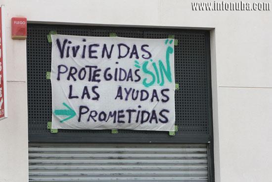 Imagen de la pancarta.