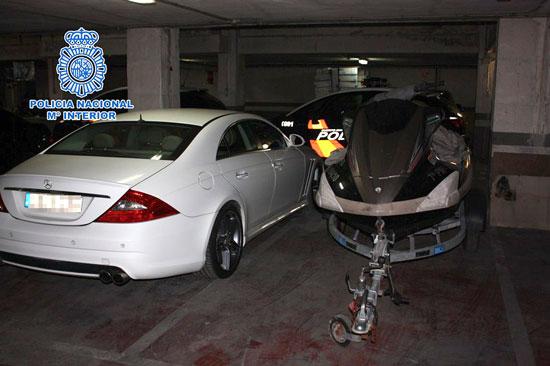 Imagen de alguno de los vehículos intervenidos.