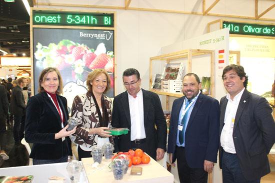 Imagen de la visita a Biofach.