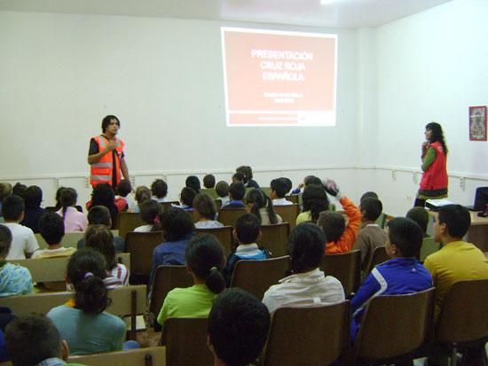 Imagen de una acción formativa de Cruz Roja.