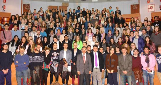 Recepción de lo estudiantes ERASMUS en la UHU.
