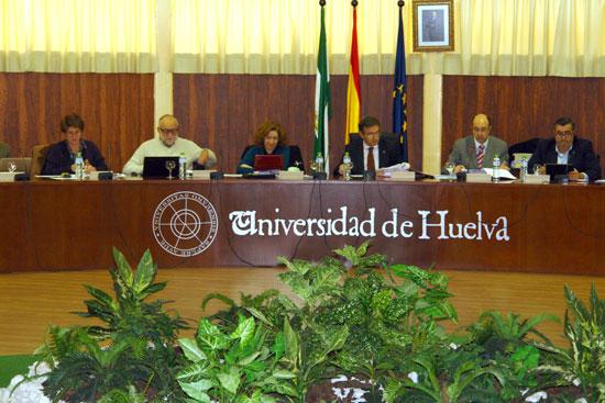 Imagen del Consejo de Gobierno de la Universidad de Huelva.