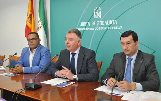 La muestra ha sido presentada hoy por el delegado del Gobierno de la Junta de Andalucía en Huelva, Francisco José Romero; el alcalde de la localidad, Diego Pichardo, y el diputado provincial Salvador Gómez.