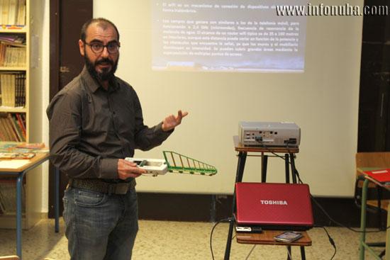 José Manuel López-Menchero durante la charla.