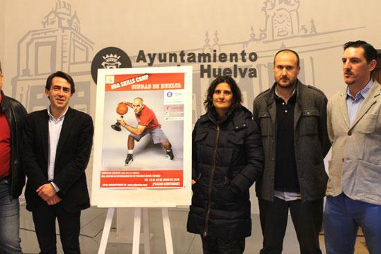 Presentación del Campus de Baloncesto NBA Skills Camp', en el Ayuntamiento de Huelva.