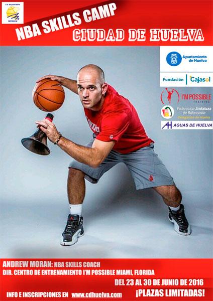 Cartel del Campus de Habilidades de Baloncesto 'NBA Skills Camp'.
