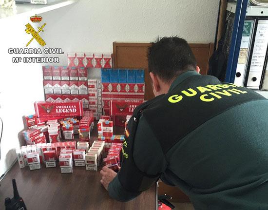 Imagen del tabaco de contrabando intervenido en la localidad de Cartaya.
