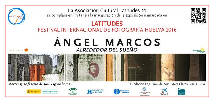"""Cartel de la exposición """"Alrededor del sueño"""" de Ángel Marcos."""